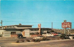 Aransas Pass Texas 1950s Postcard Little Bob's Restaurant Whaley Dexter 2991