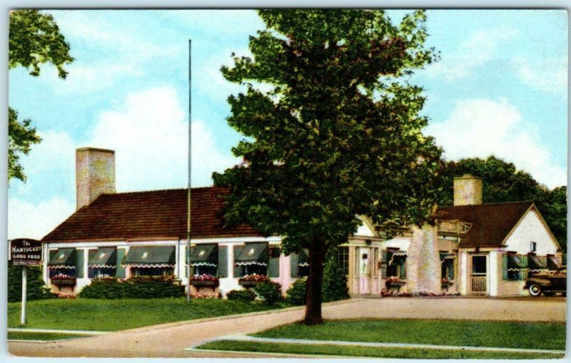BEVERLY HILLS, CHICAGO Illinois IL  Roadside THE NANTUCKET c1940s Linen Postcard