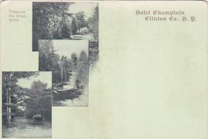 Hotel Champlain, Vistas On The Green Drive, CLINTON Co., New York, 1900-1910s