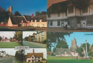 Cavendish Lavenham Suffolk Old Lady at Guildhall Hyde Park Corner 4x Postcard s