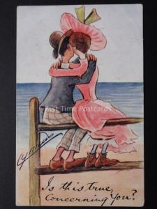 Cynicus: Romance, IS THIS TRUE CONCERNING YOU? (Huges & Kisses) c1906 by Cynicus