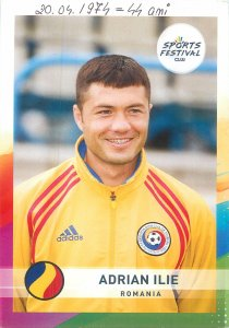 Postcard Sport football player sportmen card adrian ilie romania