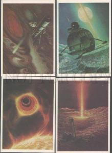 103213 RUSSIAN SPACE Collection of 32 postcards 1982 year