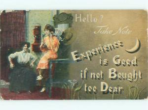 Divided-Back PRETTY WOMAN Risque Interest Postcard AA7829