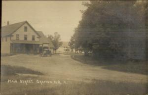 Grafton NH Main St.  Store & Old Truck c1910 Real Photo Postcard