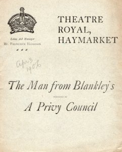 The Man From Blankleys Charles Hawtry Rare Haymarket Theatre Programme