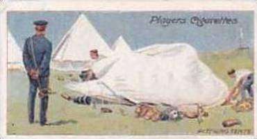Player & Sons Vintage Cigarette Card Army Life No 6 Pitching Tents 1910