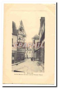 Mills Postcard Old Old wooden house Rue de l & # 39ancien palace