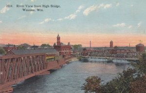 WAUSAU, Wisconsin, 1900-10s; River View from High Bridge