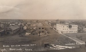 RP: Bird's Eye View, looking North, MORTLACH Saskatchewan , Canada , 1900-10s