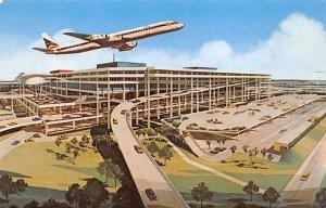 New Tampa International Jetport Terminal Aerial View Tampa FL