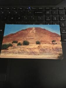 Vintage Postcard : Mexico Pyramid of the Sun