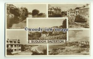tp9938 - Devon - Multiview x 5 of Various Views of Budleigh Salterton - Postcard