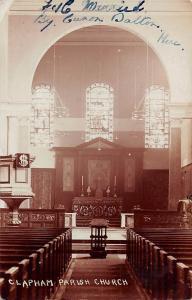 Clapham Parish Church Interior view Kirche Eglise 1907