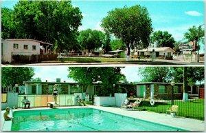 Las Vegas, New Mexico Postcard LA LOMA MOTEL Pool View Highway 85 Roadside 1960s