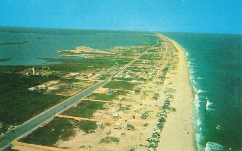Postcard Fenwick Island Looking North Along Delaware Coast