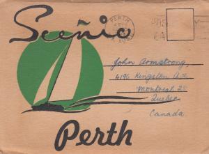 PERTH , Australia , 1948 Folder Postcard