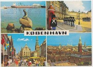 KOBENHAVN, COPENHAGEN, multi view, 1978 used Postcard
