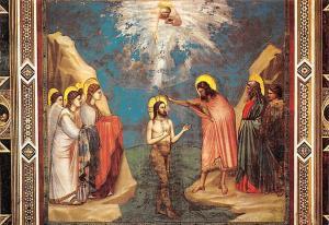 Padova The Baptism of Jesus, Giotto Colle di Vespignano Battesimo di Gesu