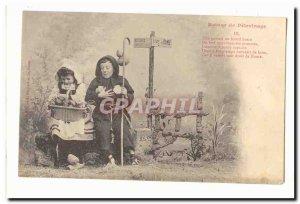 Old Postcard Return of pilgrimage rome Bellevue Road