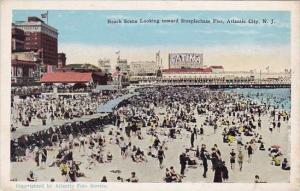 New Jersey Atlantic City Beach Scene Looking Toward Steeplechase Pier