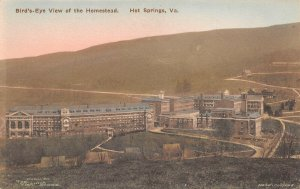 LPS69 Hot Springs Virginia The Homestead Aerial View Postcard Hand Colored