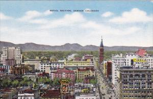 Colorado Denver Aerial View Retail Section