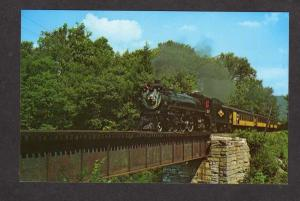 VT Canadian Pacific Railroad Train Loco 127 Brockway's Mills Vermont Postcard PC