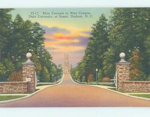 Unused Linen WEST CAMPUS AT UNIVERSITY Durham North Carolina NC L7180-22