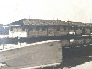 Vtg RPPC. Houseboat on Illinois River.Schultes Landing. Queen l, Queen ll