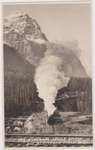 RP, Entering Lower Spiral And Mt. Stephen, Field, B.C., Canada, 1920-40s