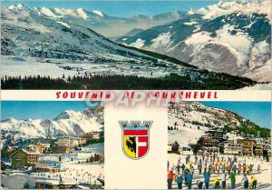 Postcard Modern Courchevel View On Together since Tracks of Ariondaz
