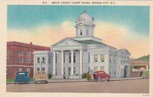 North Carolina Bryson City Swain County Court House Albertype