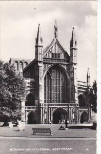 Winchester Cathedral West Front England Real Photo