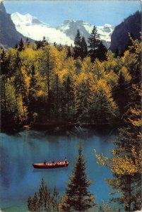 Switzerland Blausee Berner Oberland Lake Boat Forest Postcard