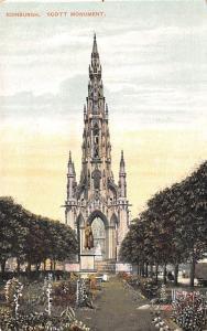Scotland, UK Old Vintage Antique Post Card Scott Monument Edinburgh Unused