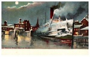 Massachusetts  East Boston Ferry Slip at Night