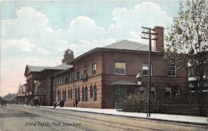 Grand Rapids Michigan~Union Railroad Depot~1907 Hazeltine & Perkins Drug Co Pc