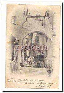 Old Menton Old Postcard A Street (ass donkey)
