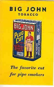 Big John Tobacco Pipe Cleaner Envelope