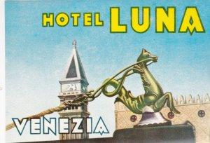Italy Venezia Hotel Luna Vintage Luggage Label lbl0199