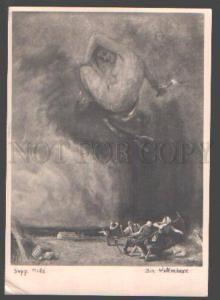 098534 NUDE WITCH on Sky by Sepp HILZ vintage PC