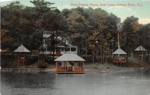 Asbury Park New Jersey~Ross Fenton Farm on Deal Lake~Gazebos~1909 Postcard