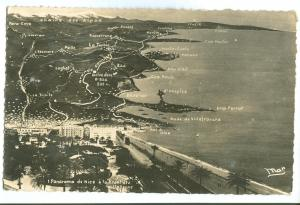 France, Panorama de Nice a la Frontiere Italienne, CPA
