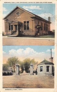 Marshalltown Iowa~Civil War Soldiers Home~Entrance & Assembly Hall 1920s
