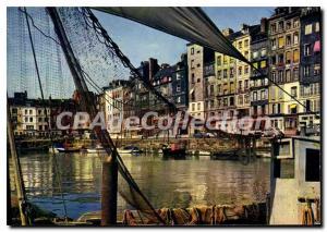 Modern Postcard Honfleur The Vieux Bassin and Le Quai Sainte Catherine