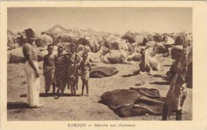 Djibouti , PU-1934 ; Marche aux chameaux
