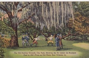 The Old Dueling Grounds City Park Showing The De Lissue New Orleans Louisiana