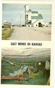 Salt Mines in Central Kansas, KS, Plants in Hutchinson, Lyons and Kanopolis, Chr