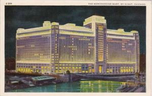 Illinois Chicago The Merchandise Mart By Night